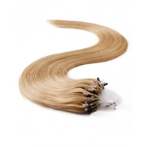 """16"""" Dark Brown(#2) 100S Micro Loop Remy Human Hair Extensions"""