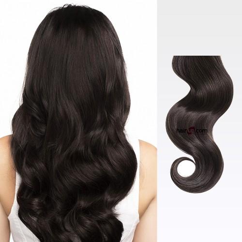 "24"" Dark Brown(#2) 7pcs Clip In Human Hair Extensions"