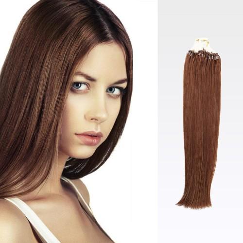 """26"""" Dark Auburn(#33) 100S Micro Loop Remy Human Hair Extensions"""